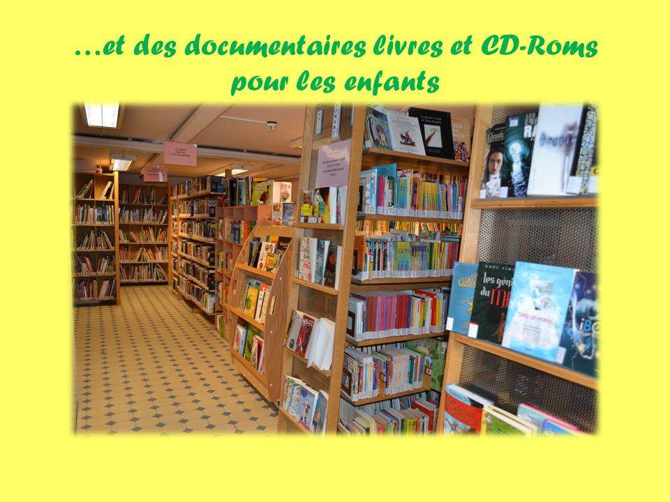 …et des documentaires livres et CD-Roms pour les enfants