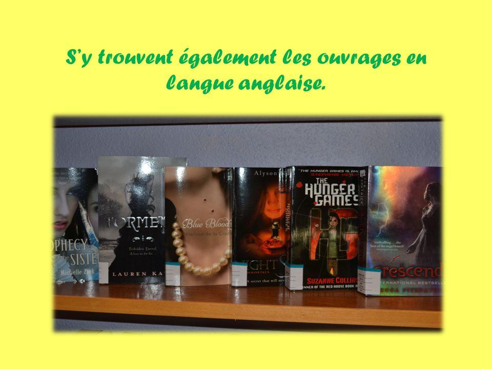 Sy trouvent également les ouvrages en langue anglaise.