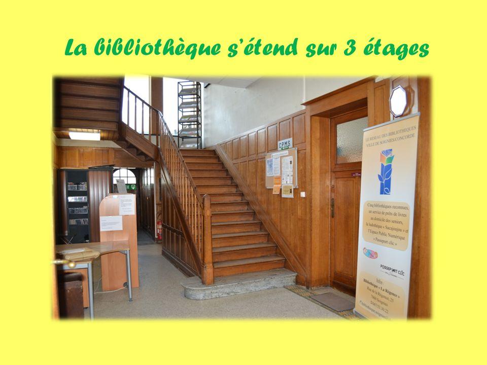 La bibliothèque sétend sur 3 étages