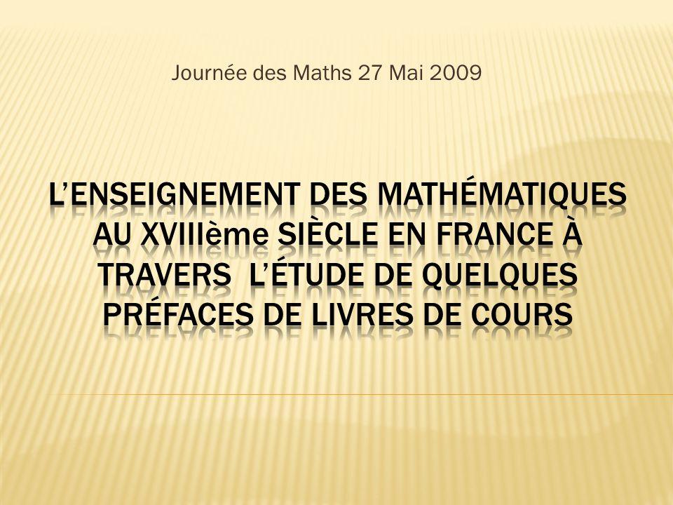Pourquoi éditer un livre de cours de mathématiques .