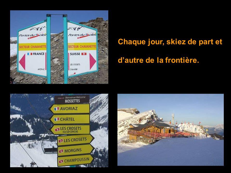 Skiez à travers le village de Morgins et ses chalets suisses si typiques.