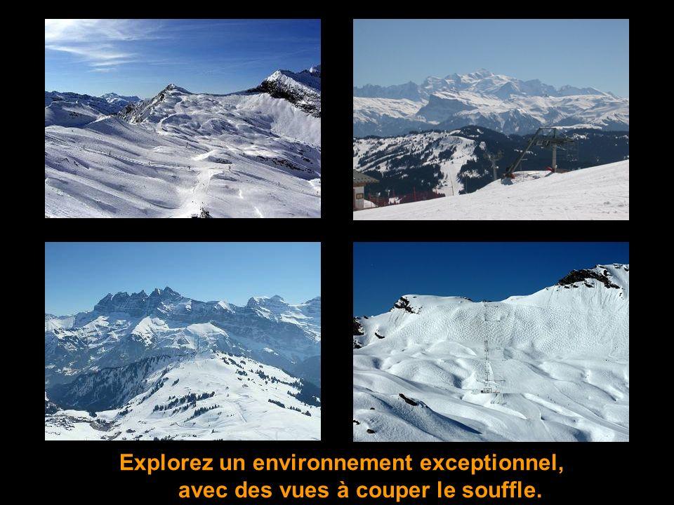 Ensemble, nous irons à la découverte de lun des plus grands domaines skiables du monde, reliant 12 villages à cheval entre la France et la Suisse: Les Portes du Soleil