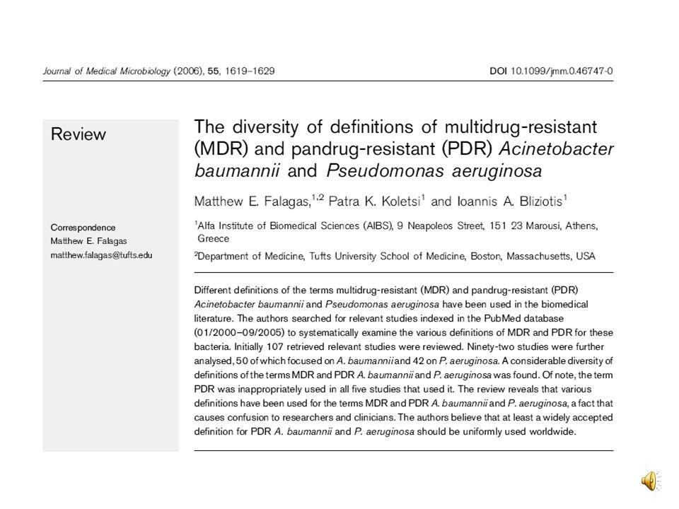 Définition dune bactérie multirésistante Les bactéries sont dites multirésistantes aux antibiotiques (BMR) lorsque, du fait de l accumulation des résistances naturelles et acquises, elles ne sont plus sensibles qu à un petit nombre d antibiotiques habituellement actifs en thérapeutique.