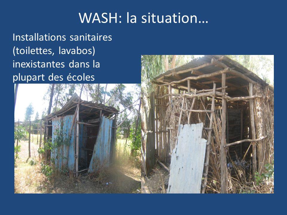 WASH: la situation… Installations sanitaires (toilettes, lavabos) inexistantes dans la plupart des écoles