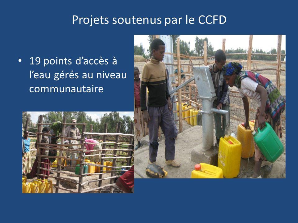 Projets soutenus par le CCFD 19 points daccès à leau gérés au niveau communautaire