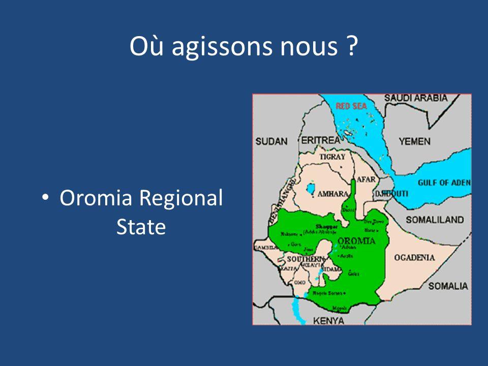 Où agissons nous ? Oromia Regional State