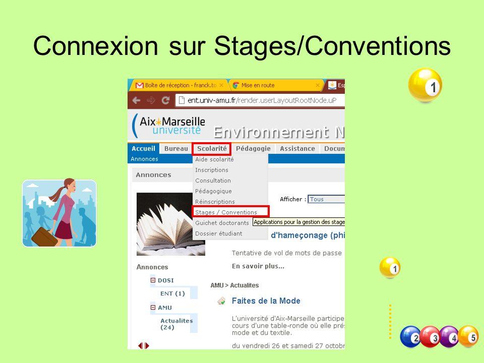 Connexion sur Stages/Conventions