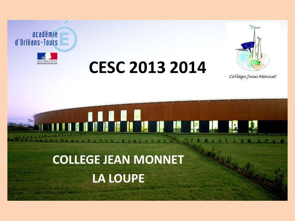 CESC 2013 2014 COLLEGE JEAN MONNET LA LOUPE