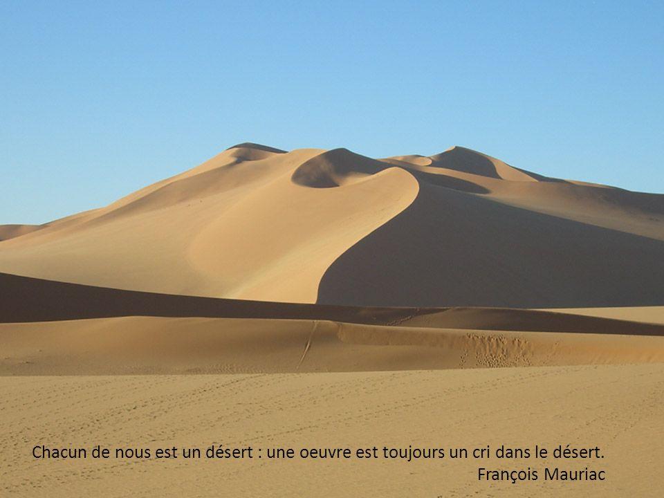 Le désert est la seule chose qui ne puisse être détruite que par construction. Boris Vian