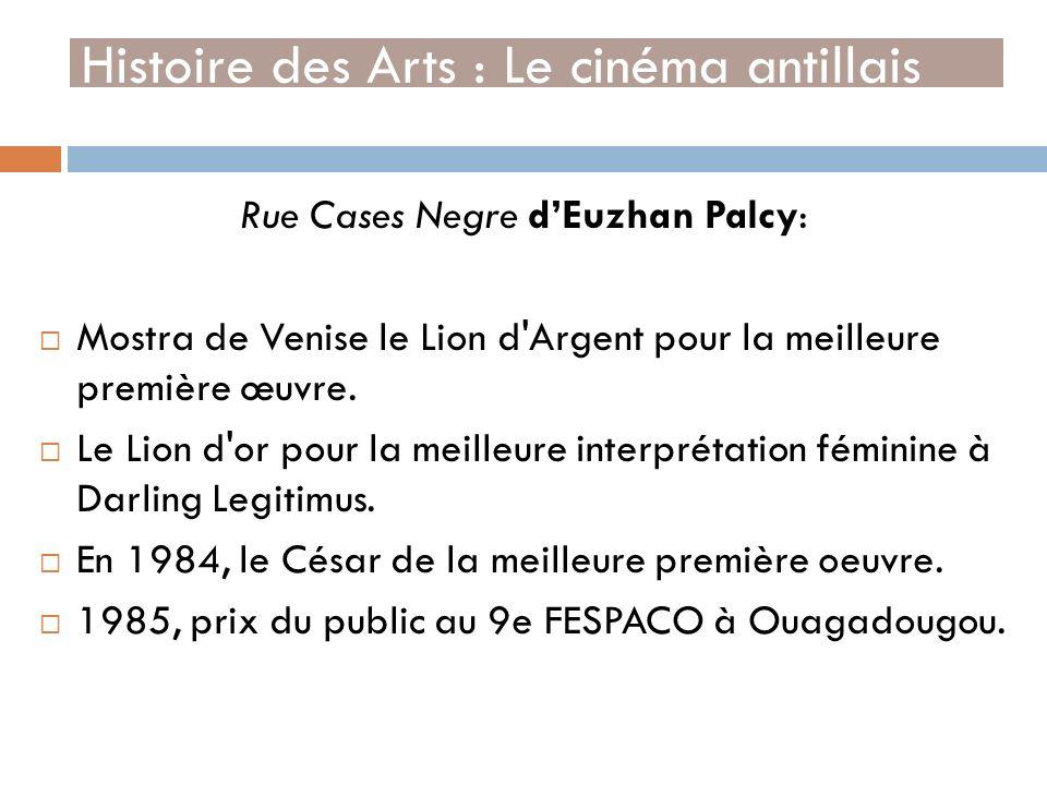 Rue Cases Negre dEuzhan Palcy: Mostra de Venise le Lion d'Argent pour la meilleure première œuvre. Le Lion d'or pour la meilleure interprétation fémin