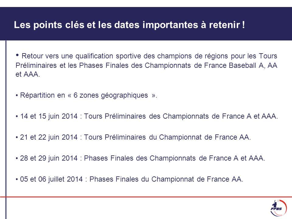 Les points clés et les dates importantes à retenir ! Retour vers une qualification sportive des champions de régions pour les Tours Préliminaires et l