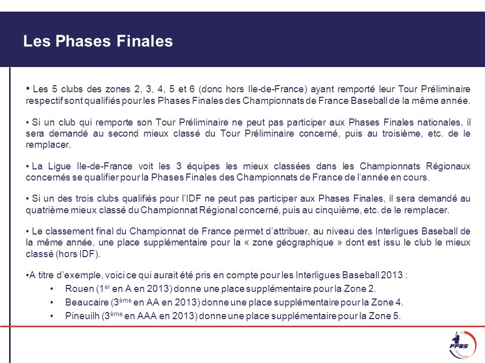 Formule sportive des Phases Finales A, AA et AAA