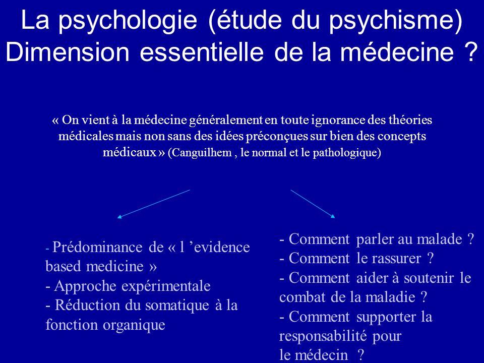 « On vient à la médecine généralement en toute ignorance des théories médicales mais non sans des idées préconçues sur bien des concepts médicaux » (C