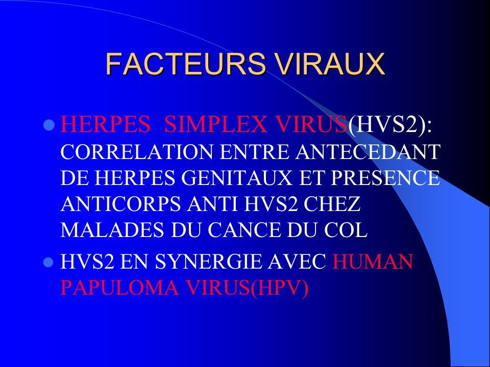 MECANISMES DE TRANSFORMATION FACTEURS VIRAUX FACTEURS IMMUNITAIRES FACTEURS HORMONAUX