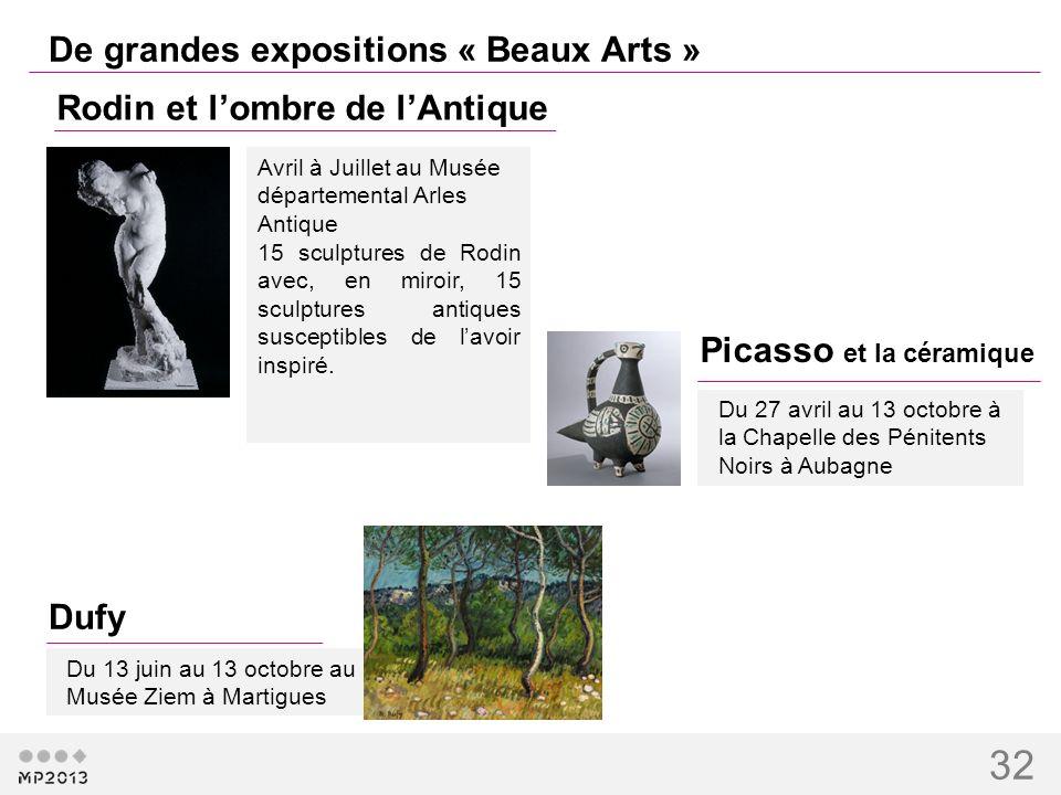 32 De grandes expositions « Beaux Arts » Rodin et lombre de lAntique Avril à Juillet au Musée départemental Arles Antique 15 sculptures de Rodin avec,