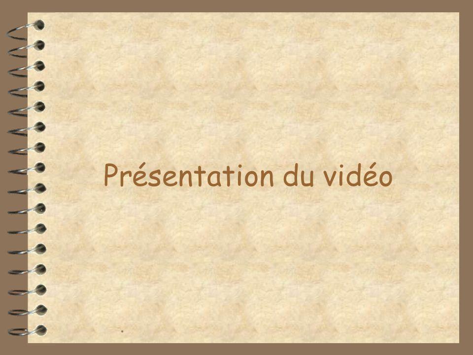 Présentation du vidéo.