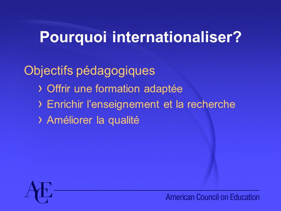 Pourquoi internationaliser.