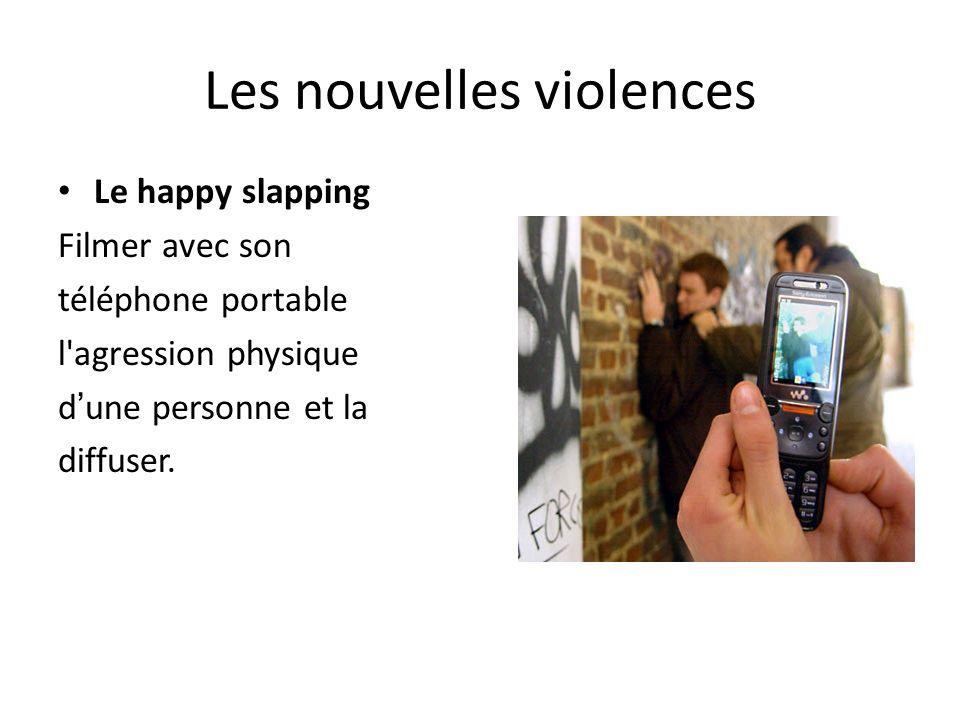 Les nouvelles violences Le happy slapping Filmer avec son téléphone portable l agression physique dune personne et la diffuser.