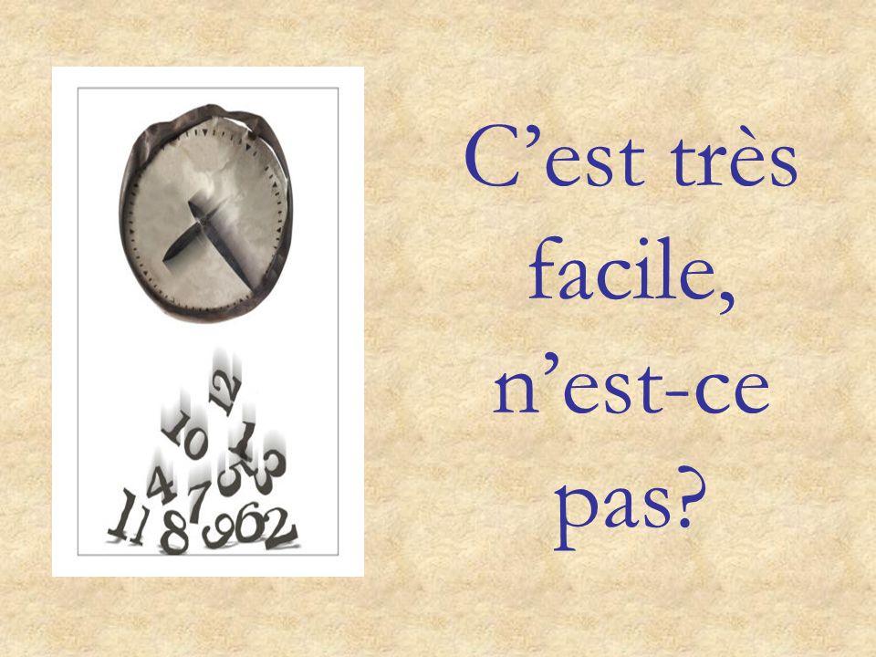 Lheure en français: et quart et demie moins le quart cinq dix vingt vingt-cinq moins vingt-cinq moins vingt moins dix moins cinq HEURE