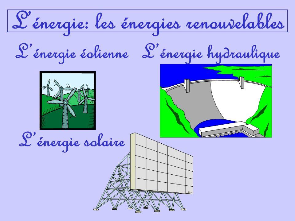 Lénergie éolienneLénergie hydraulique Lénergie solaire Lénergie: les énergies renouvelables