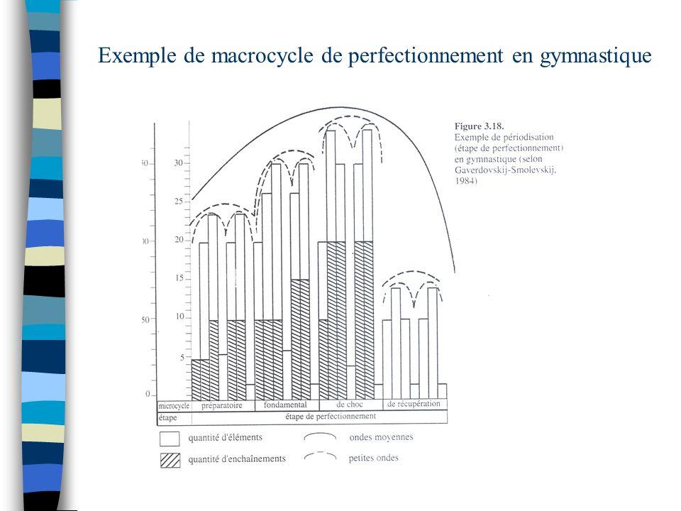 Exemple de macrocycle de perfectionnement en gymnastique