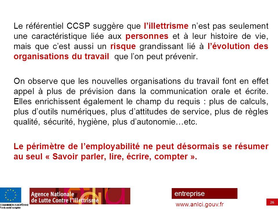 27 entreprise www.anlci.gouv.fr Le référentiel peut être parcouru de 2 façons différentes