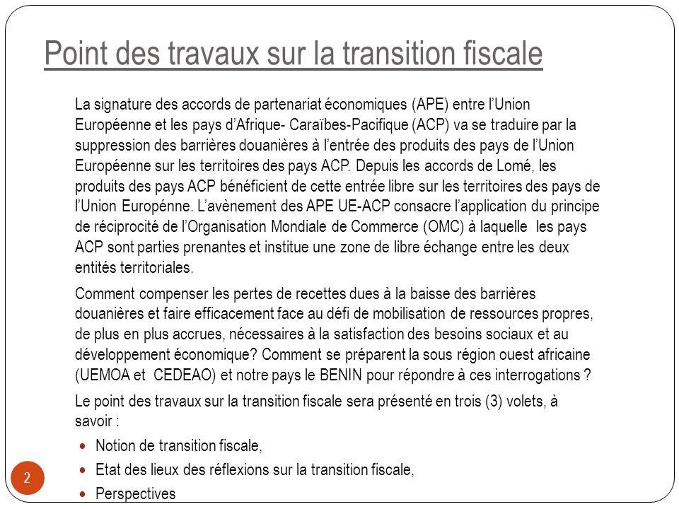 La signature des accords de partenariat économiques (APE) entre lUnion Européenne et les pays dAfrique- Caraïbes-Pacifique (ACP) va se traduire par la