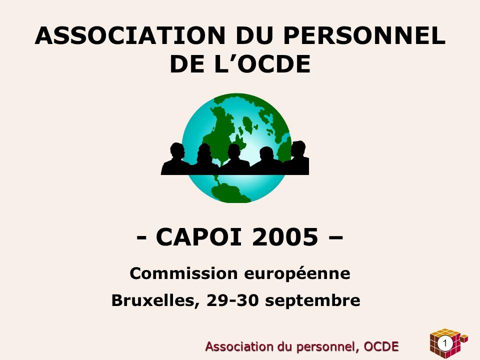 1 Association du personnel, OCDE ASSOCIATION DU PERSONNEL DE LOCDE - CAPOI 2005 – Commission européenne Bruxelles, 29-30 septembre