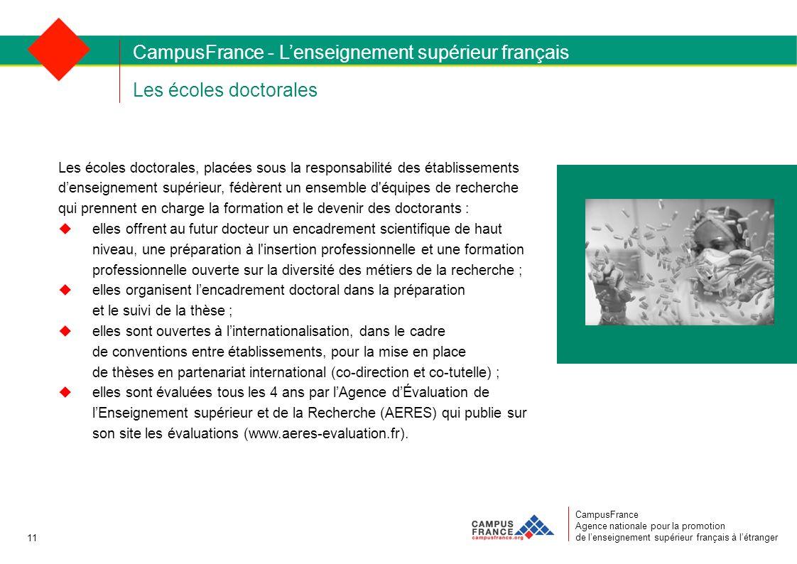 Les écoles doctorales CampusFrance Agence nationale pour la promotion de lenseignement supérieur français à létranger Les écoles doctorales, placées s