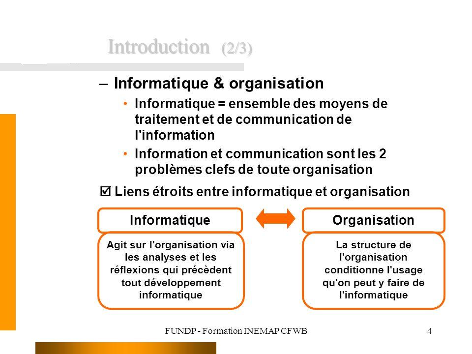 FUNDP - Formation INEMAP CFWB25 4.
