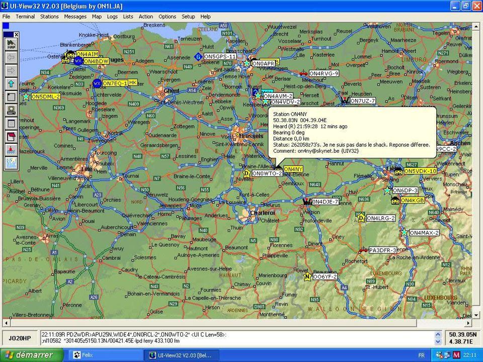 APRS Dans le cas dune station fixe, il suffit de rentrer les coordonnées géographiques de la station dans le logiciel.