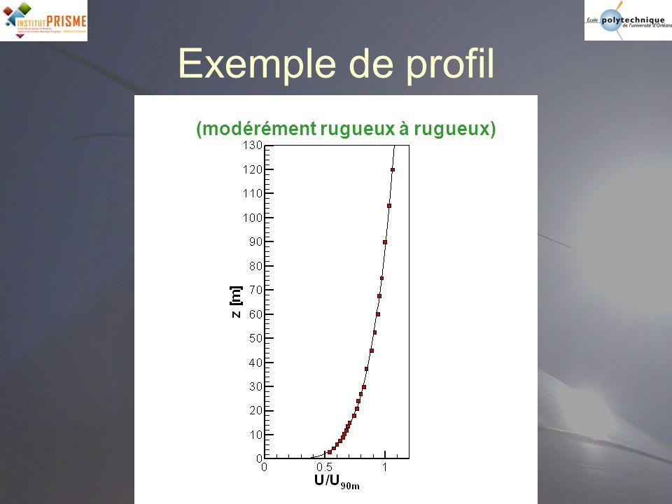 Exemple de profil (modérément rugueux à rugueux)