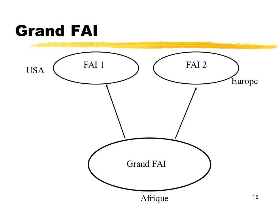 15 Grand FAI FAI 1FAI 2 Afrique Europe USA Grand FAI