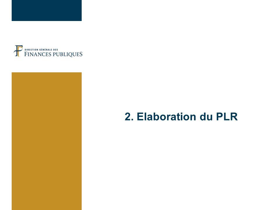 2. Elaboration du PLR