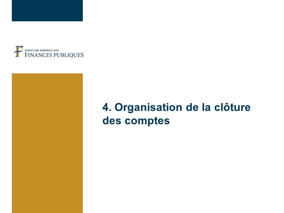 4. Organisation de la clôture des comptes