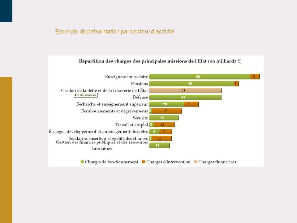 Exemple de présentation par secteur dactivité