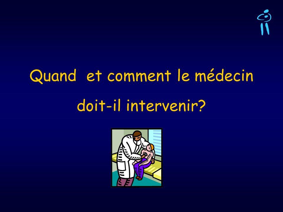 Quand et comment le médecin doit-il intervenir?