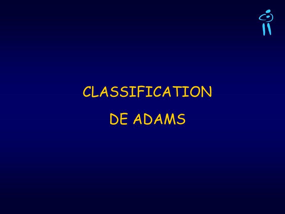 CLASSIFICATION DE ADAMS