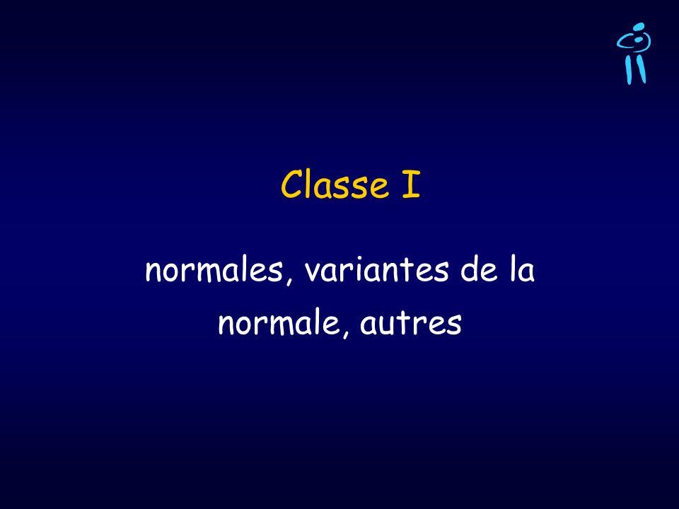 Classe I normales, variantes de la normale, autres