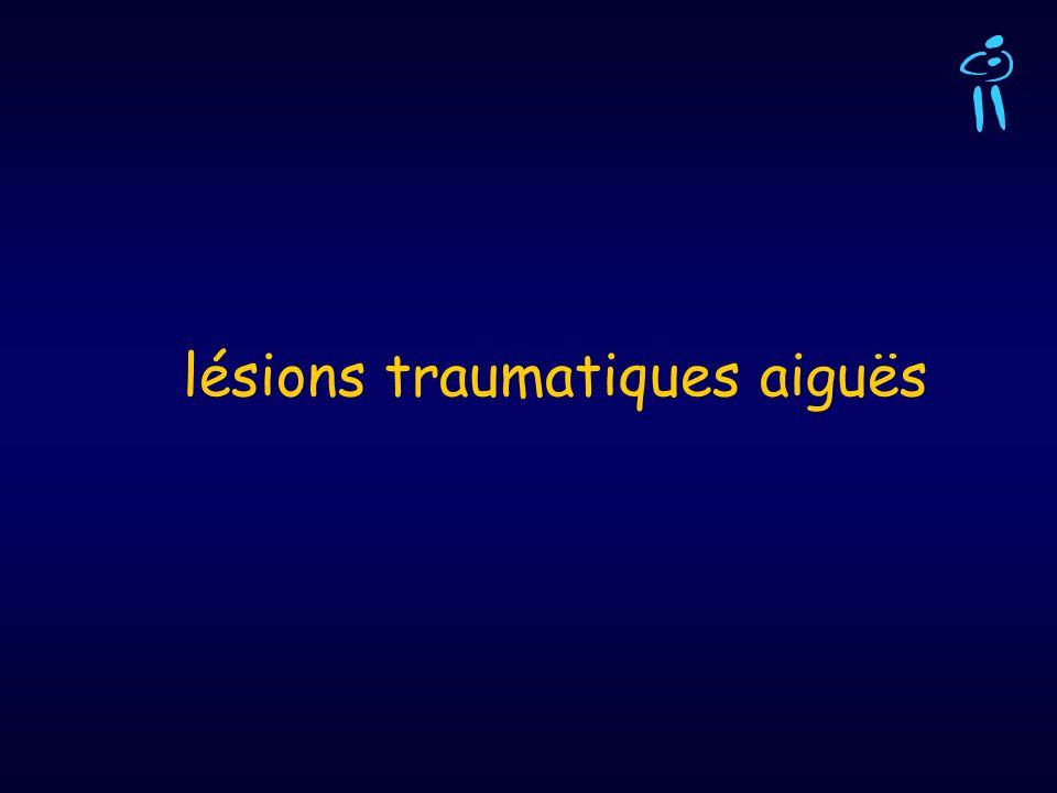 lésions traumatiques aiguës