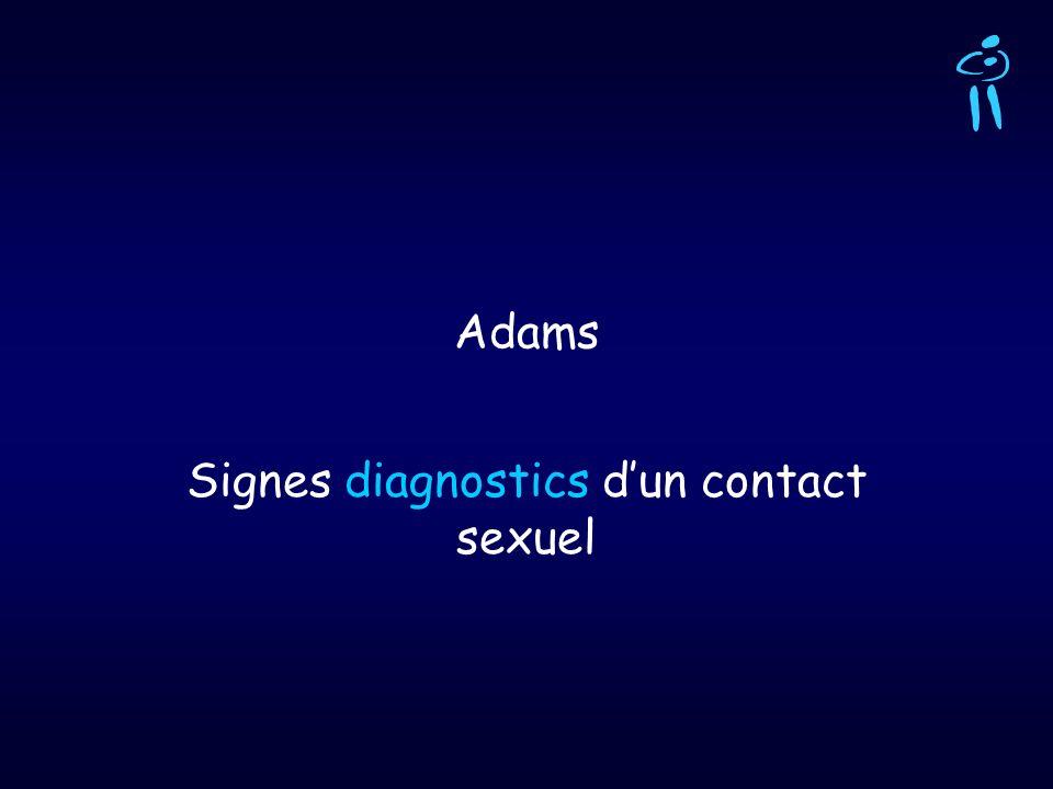 Adams Signes diagnostics dun contact sexuel