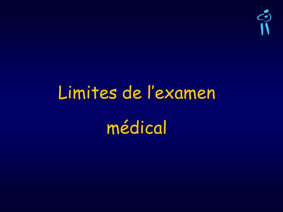 Limites de lexamen médical