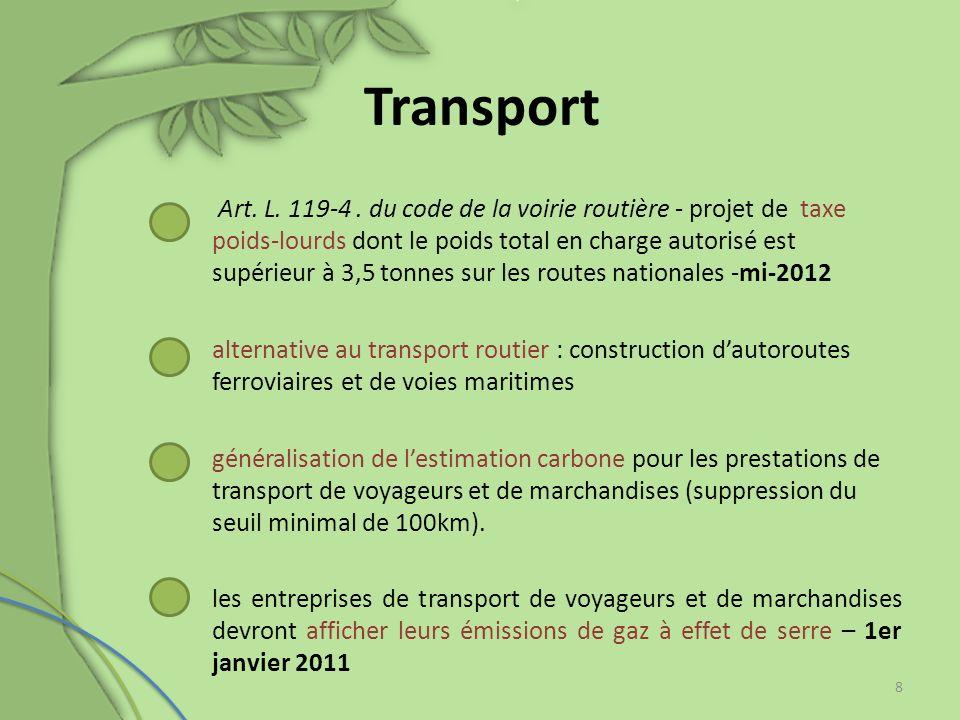Consommation, énergie et contenu carbone limité dans la production synthèse obligatoire des actions prévues pour diminuer les émissions de gaz Art.