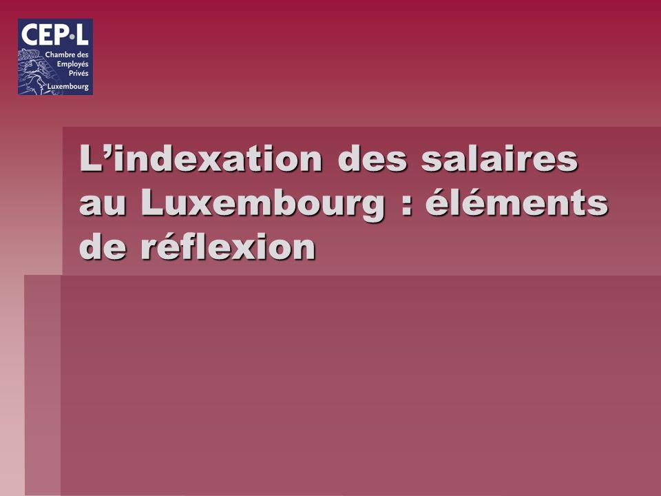 Lindexation des salaires au Luxembourg : éléments de réflexion