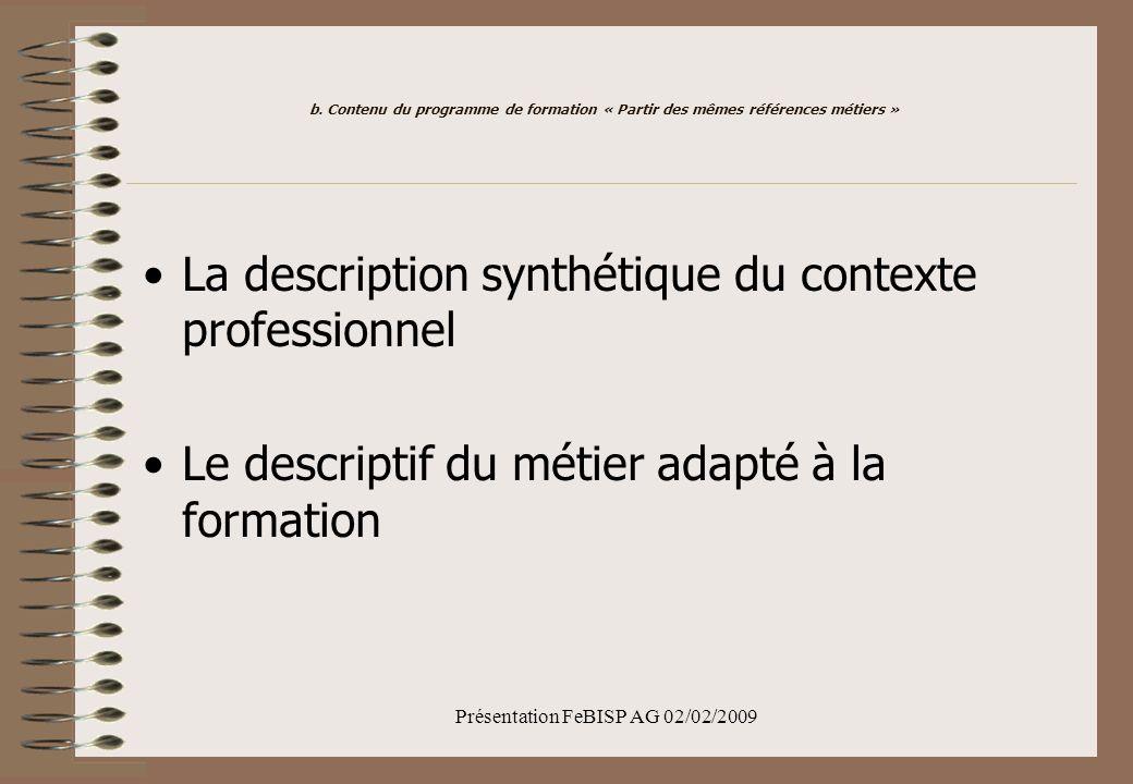 Présentation FeBISP AG 02/02/2009 b.