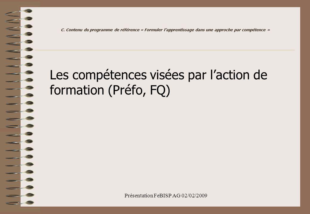 Présentation FeBISP AG 02/02/2009 C.