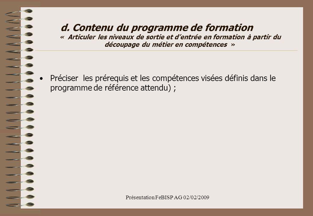 Présentation FeBISP AG 02/02/2009 d.
