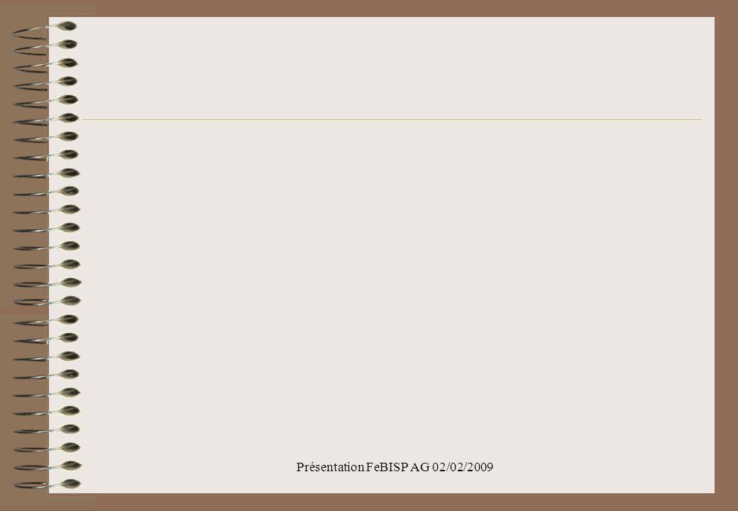 Présentation FeBISP AG 02/02/2009