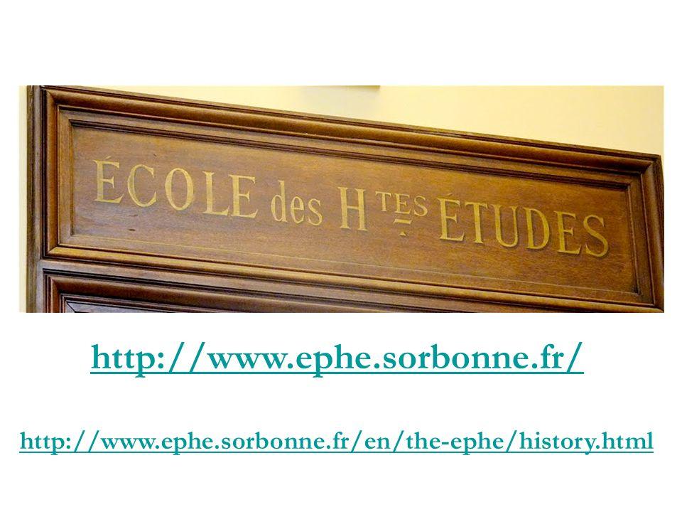 École pratique des Hautes Études 190 avenue de France F- 75013 Paris