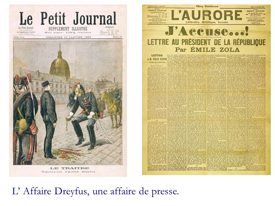 L Affaire Dreyfus, une affaire de presse.